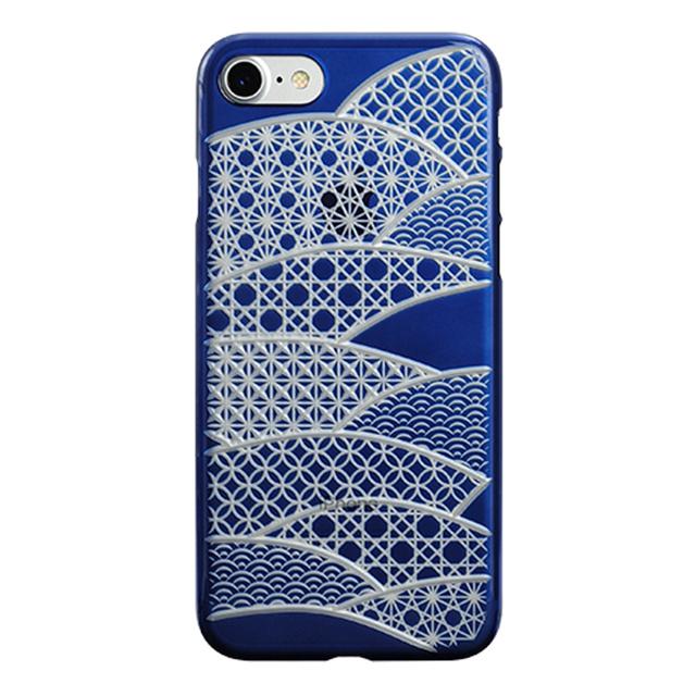 "9caf852fbf Web限定】AIR JACKET ""kiriko"" for iPhone8/7 千代柄・扇(藍) POWER ..."