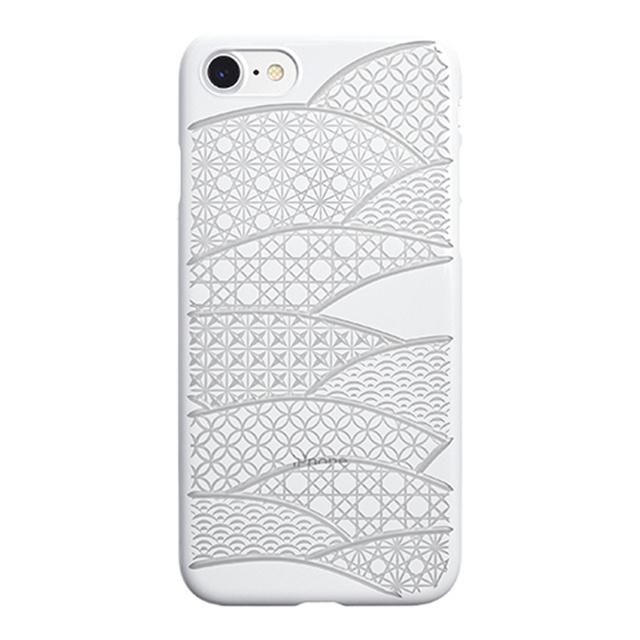 "054a45dcd0 Web限定】AIR JACKET ""kiriko"" for iPhone8/7 千代柄・扇(ピュアホワイト ..."